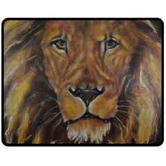 Cecil The African Lion Double Sided Fleece Blanket (medium)