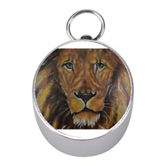 Cecil The African Lion Mini Silver Compasses