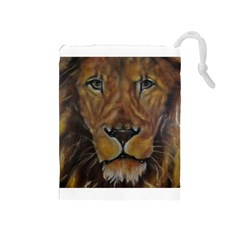 Cecil The African Lion Drawstring Pouches (Medium)