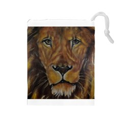 Cecil The African Lion Drawstring Pouches (large)