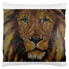 Cecil The African Lion Large Flano Cushion Cases (Two Sides)