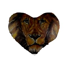 Cecil The African Lion Standard 16  Premium Flano Heart Shape Cushions
