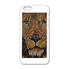 Cecil The African Lion Apple iPhone 6 White Enamel Case