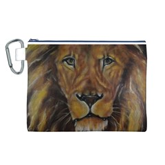 Cecil The African Lion Canvas Cosmetic Bag (L)