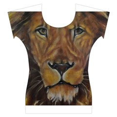 Cecil The African Lion Women s Cap Sleeve Top