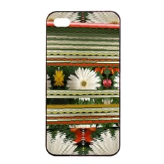 Pattern Flower  Apple Iphone 4/4s Seamless Case (black)