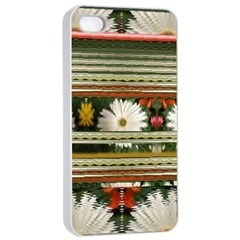 Pattern Flower  Apple iPhone 4/4s Seamless Case (White)