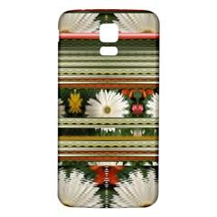 Pattern Flower  Samsung Galaxy S5 Back Case (White)