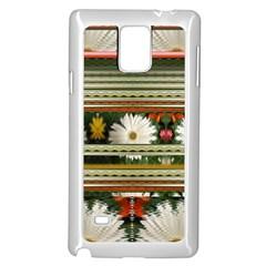 Pattern Flower  Samsung Galaxy Note 4 Case (white)