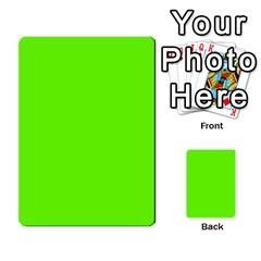 Bright Fluorescent Neon Green Multi-purpose Cards (Rectangle)