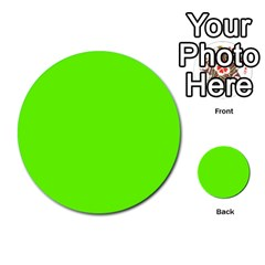 Bright Fluorescent Neon Green Multi-purpose Cards (Round)