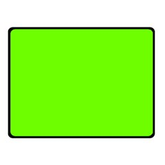 Bright Fluorescent Neon Green Double Sided Fleece Blanket (Small)