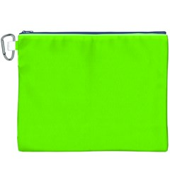 Bright Fluorescent Neon Green Canvas Cosmetic Bag (XXXL)