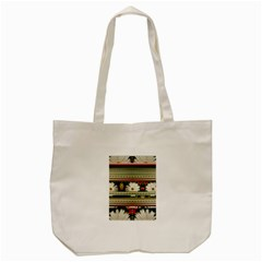 Pattern Flower  Tote Bag (Cream)