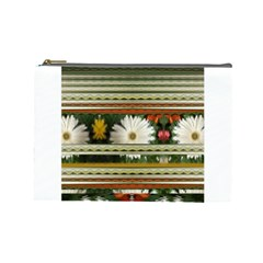 Pattern Flower  Cosmetic Bag (large)