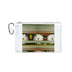 Pattern Flower  Canvas Cosmetic Bag (S)