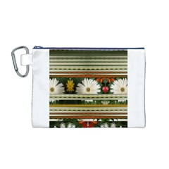 Pattern Flower  Canvas Cosmetic Bag (M)
