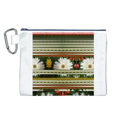 Pattern Flower  Canvas Cosmetic Bag (L)