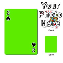 Bright Fluorescent Neon Green Playing Cards 54 Designs