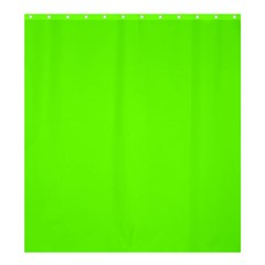 Bright Fluorescent Neon Green Shower Curtain 66  x 72  (Large)