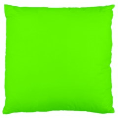 Bright Fluorescent Neon Green Large Flano Cushion Cases (Two Sides)