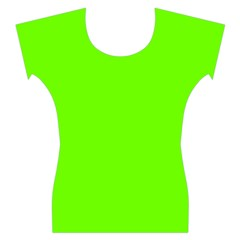 Bright Fluorescent Neon Green Women s Cap Sleeve Top