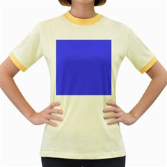 Neon Blue Women s Fitted Ringer T-Shirts