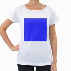 Neon Blue Women s Loose-Fit T-Shirt (White)