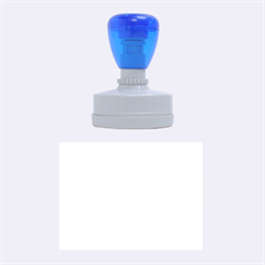 Neon Blue Rubber Oval Stamps