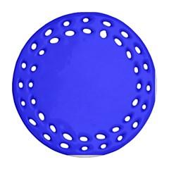 Neon Blue Ornament (Round Filigree)