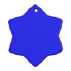 Neon Blue Ornament (Snowflake)