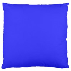 Neon Blue Large Flano Cushion Cases (Two Sides)
