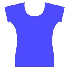 Neon Blue Women s Cap Sleeve Top