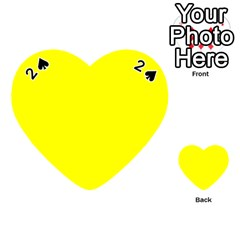 Bright Fluorescent Yellow Neon Playing Cards 54 (Heart)