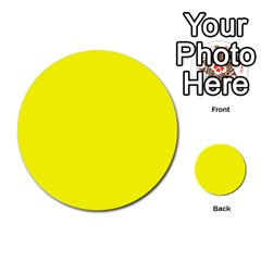Bright Fluorescent Yellow Neon Multi-purpose Cards (Round)