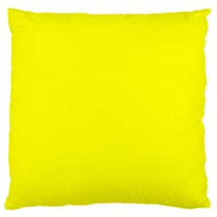 Bright Fluorescent Yellow Neon Standard Flano Cushion Cases (One Side)