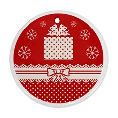 Christmas Gift Round Ornament