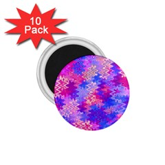 Pink And Purple Marble Waves 1 75  Magnets (10 Pack)
