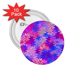 Pink and Purple Marble Waves 2.25  Buttons (10 pack)