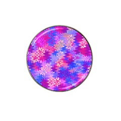 Pink And Purple Marble Waves Hat Clip Ball Marker