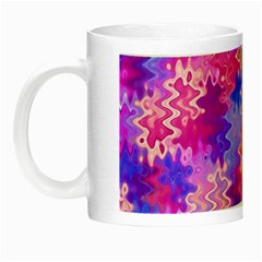 Pink and Purple Marble Waves Night Luminous Mugs