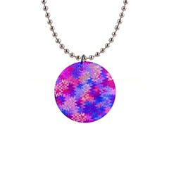 Pink and Purple Marble Waves Button Necklaces