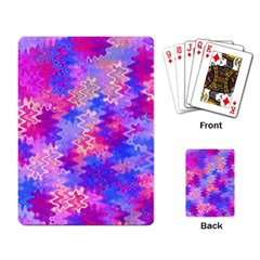 Pink and Purple Marble Waves Playing Card