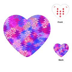 Pink And Purple Marble Waves Playing Cards (heart)