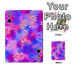 Pink and Purple Marble Waves Playing Cards 54 Designs