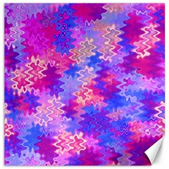 Pink And Purple Marble Waves Canvas 16  X 16