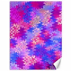 Pink and Purple Marble Waves Canvas 36  x 48