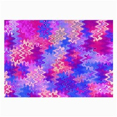 Pink and Purple Marble Waves Large Glasses Cloth (2-Side)