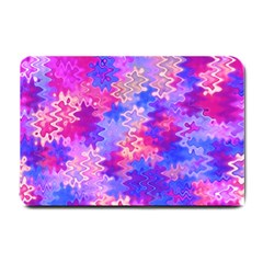 Pink and Purple Marble Waves Small Doormat