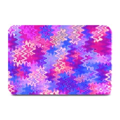 Pink and Purple Marble Waves Plate Mats